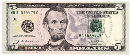 Stany Zjednoczone - 5 dolarów (2013)