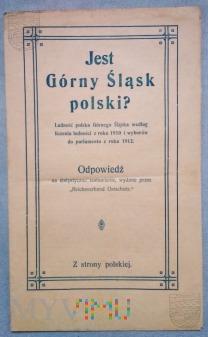 Duże zdjęcie Broszura propagandowa plebiscytowa Polska