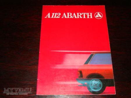Prospekt AUTOBIANCHI A112 ABARTH