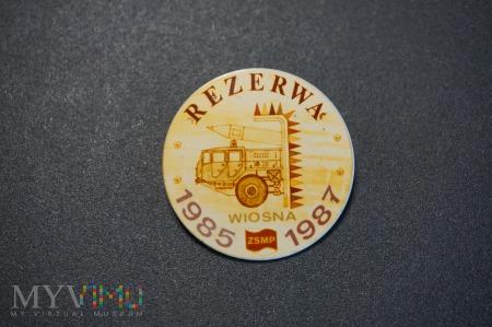 Odznaka Rezerwy Wiosna 1985 - 1987