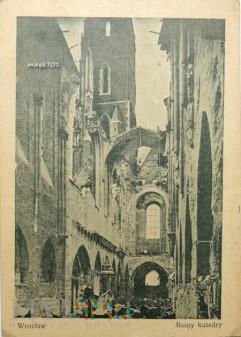Widokówka Dźwigamy z ruin Katedrę Wrocławską