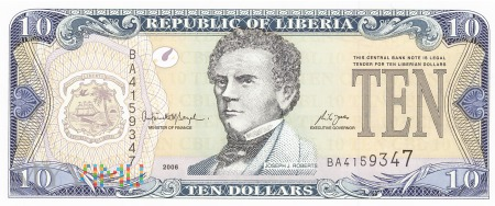 Liberia - 10 dolarów (2006)