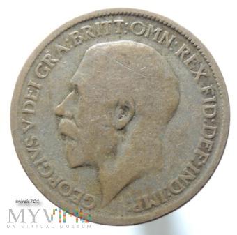 Moneta 1/2 Pensa 1916 Jerzy V Half Penny