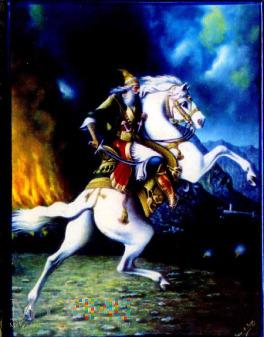 Magnes z wizerunkiem Skanderbega