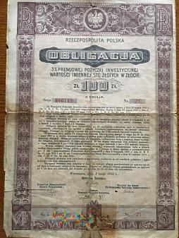 Obligacja z 01 maja 1935 roku