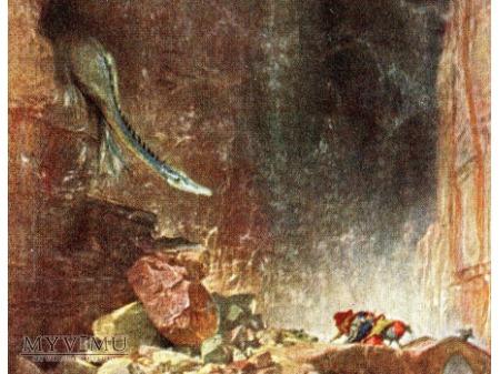 Arnold Böcklin Smok Smoczy jar Drachenschlucht