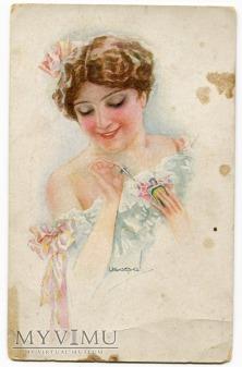 Luis Usabal dama z perfumami - art deco