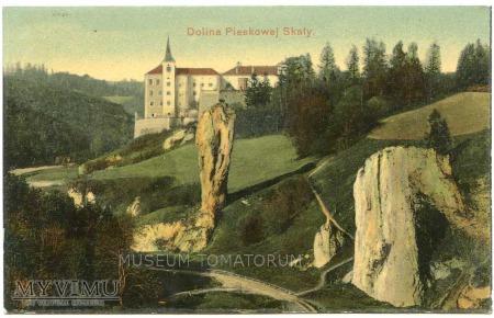 Pieskowa Skała od wschodu - widok ok. 1907 r.