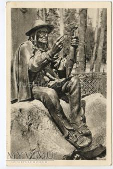 Zakopane 1953 - Posąg Sabały
