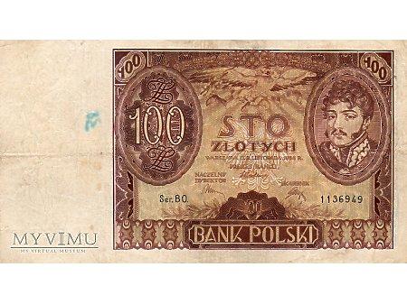 100 złotych 09.11.1934 r.