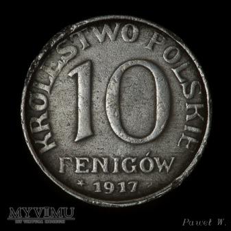 1917 10 fenigów - NBO (zdwojenie)