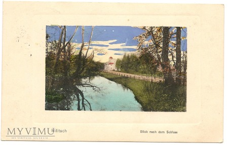 MILITSCH I SCHLES BLICK NACH DEM SCHLOSS 1916