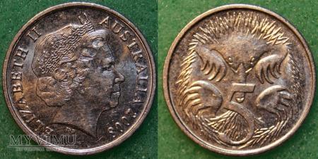 Australia, 5 centów 2008