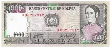 Boliwia - 1 000 pesos (1982)