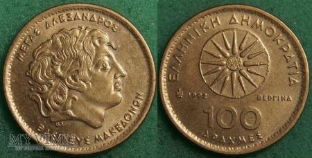 Grecja, 100 drachm 1992