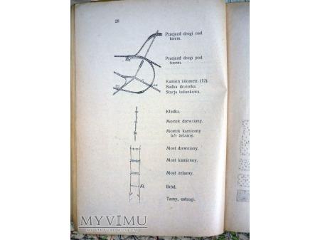 ZNAKI TOPOGRAFICZNE MAP I TAKTYCZNE GĄSIEWICZ 1930