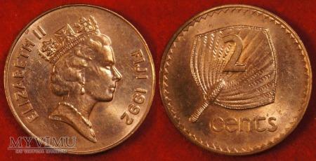 Fidżi, 2 centy 1992