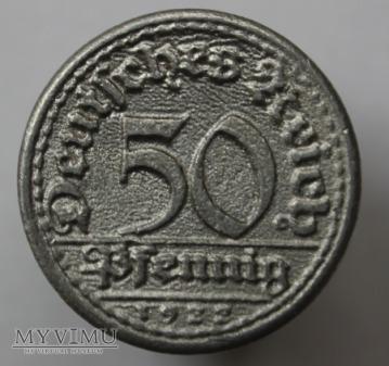 50 pfennigów 1922