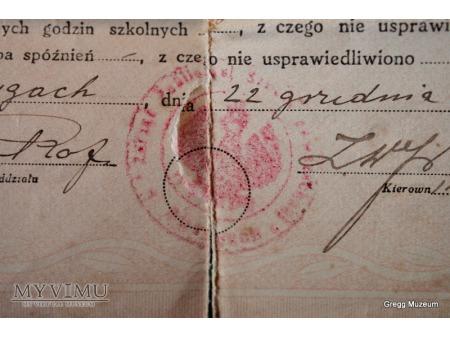 Świadectwo szkolne 1934r.