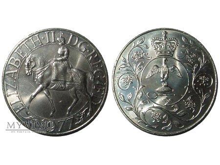 Duże zdjęcie Elżbieta II medal-1 korona (crown) 1977