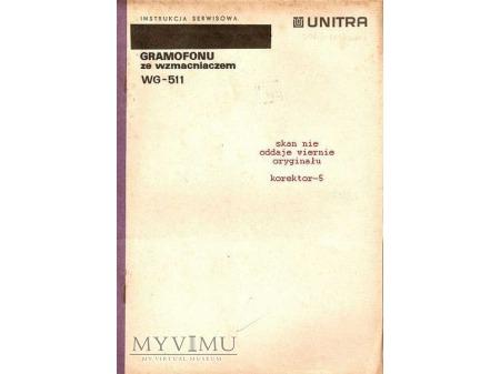Instrukcja serwisowa gramofonu WG-511