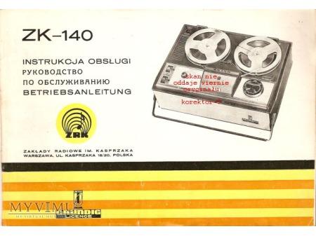 Instrukcja obsługi magnetofonu ZK-140