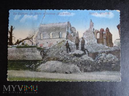 Kartka Pocztowa - ruiny kościoła