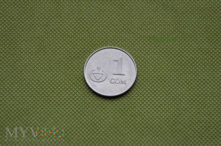 Moneta kirgiska: 1 com (1 som)