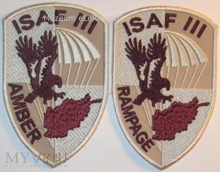 ISAF Afganistan. Zmiana III.