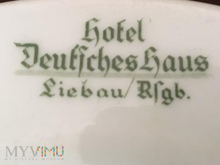 Talerz deserowy - Hotel Deutsches Haus Liebau/Rsgb