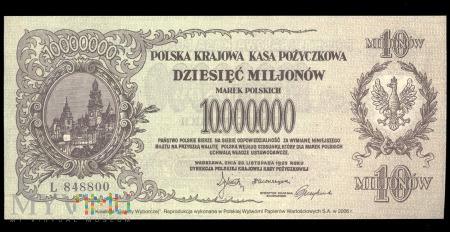 10 mln marek polskich, 1923