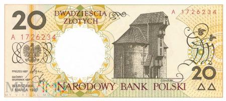 Polska - 20 złotych (1990)