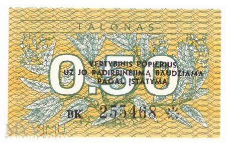 Litwa - 0.5 talona (1991)