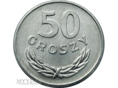 Duże zdjęcie 50 Groszy, 1978 rok, ze znakiem mennicy.