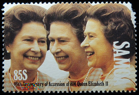 Samoa 85s Elżbieta II