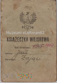 Książeczka wojskowa PKU Przemyśl 1927 r.