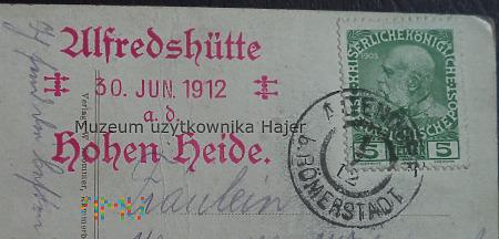 , Alfredschütte 30 jun. 1912 Hohen Heide