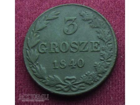 3 Grosze z 1840 r.