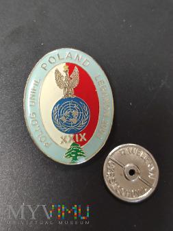 Odznaka XXIX Polskiej Zmiany PKW w Libanie