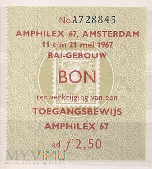 8.6a-Oryginalny bilet wstępu Amphilex fair RAI bud