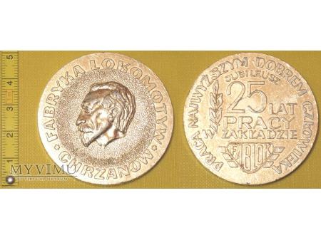 Medal kolejowy - firmowy Fablok