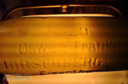 Butelka Oswald Franke Hirschberg i/Schl.