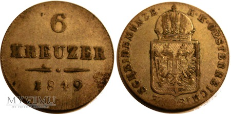 6 Krajcarów 1849 C