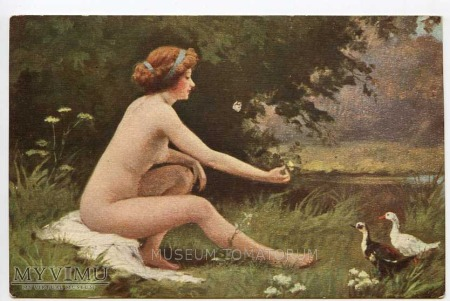 Penot - Naga kobieta i kaczki