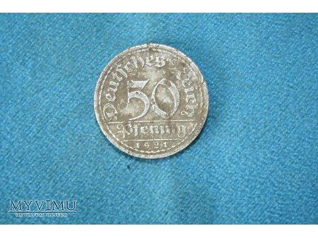 50 pfenigów 1921 A