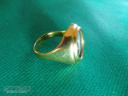h.Abdank- sygnet pieczętny,złocony