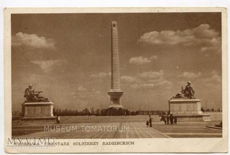 Duże zdjęcie Warszawa - Cmentarz Żołnierzy Radzieckich - 1951