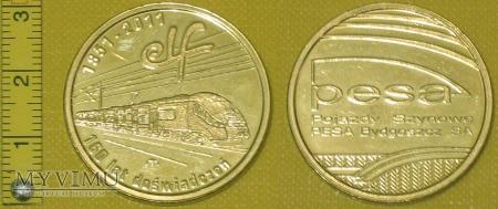 Medal kolejowy - firmowy PESA Bydgoszcz