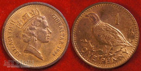 Gibraltar, 1 penny 1995