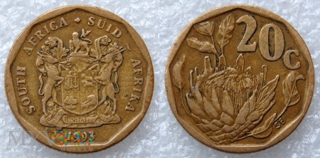 South Africa, 20 cents 1993